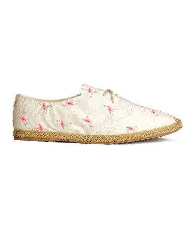 Эспадрильи на шнуровке (Белый/Фламинго)