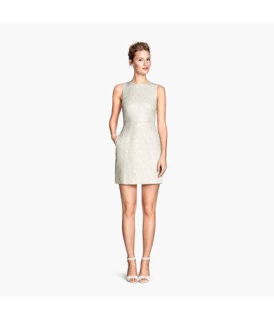 Жаккардовое платье (Натуральный белый)