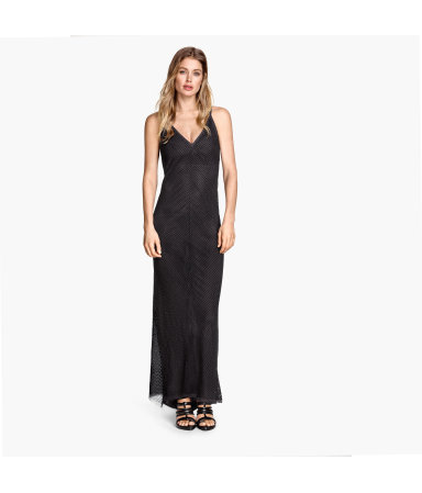 Длинное платье с бисером (Темно-серый)