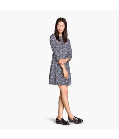 Платье-трапеция (Темно-синий)