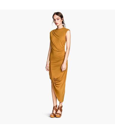Платье с драпировкой (Серый)