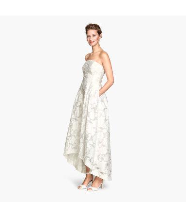 Платье-бандо из органзы (Натуральный белый)
