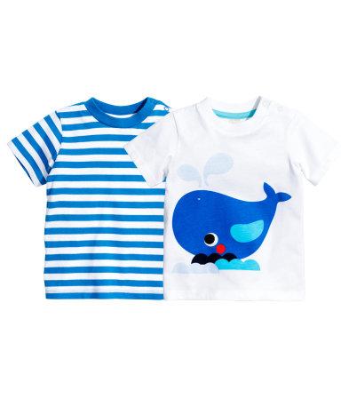 2 футболки (Синий)