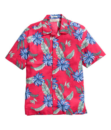 Рубашка с коротким рукавом (Красный)
