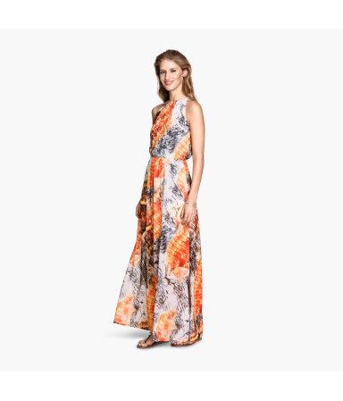 Длинное платье (Оранжевый)
