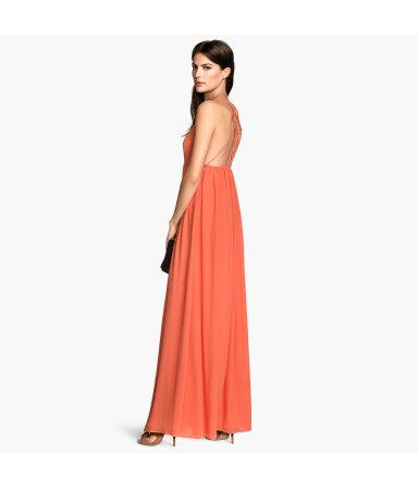 Длинное платье из шифона (Желтый)