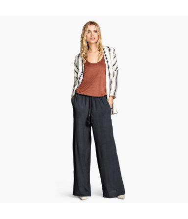 Широкие брюки (Темно-серый )