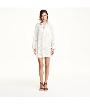 Короткое платье (Белый)