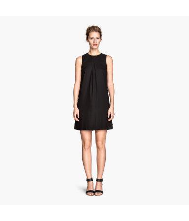 Платье без рукавов (Черный)