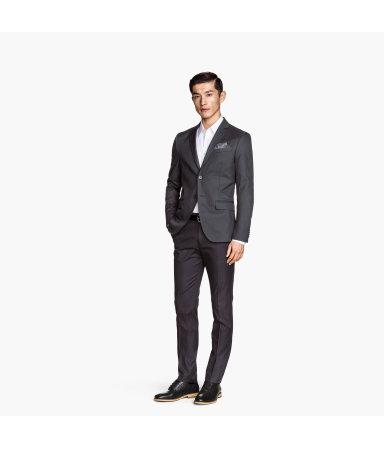 Костюмные брюки Slim fit  (Темно-серый)