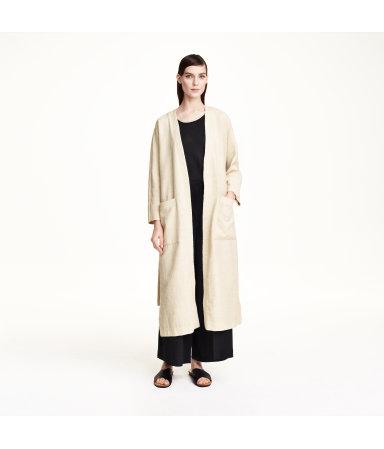 Пальто из структурной ткани (Светло-бежевый)