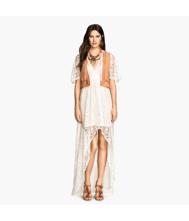 Длинное кружевное платье (Не указан)