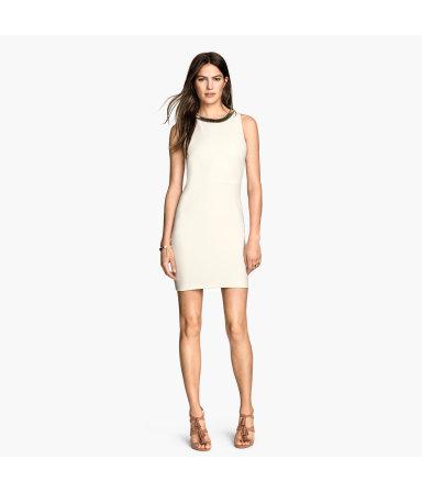 Платье, расшитое бисером (Белый)