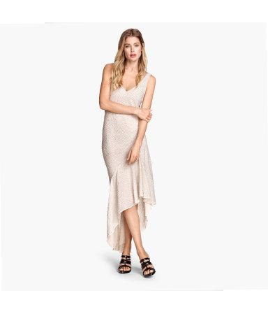 Платье, расшитое пайетками (Светло-бежевый)