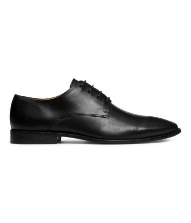 Кожаные ботинки дерби (Черный)