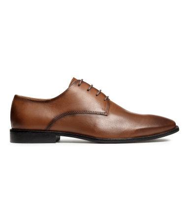 Кожаные ботинки дерби (Коричневый)