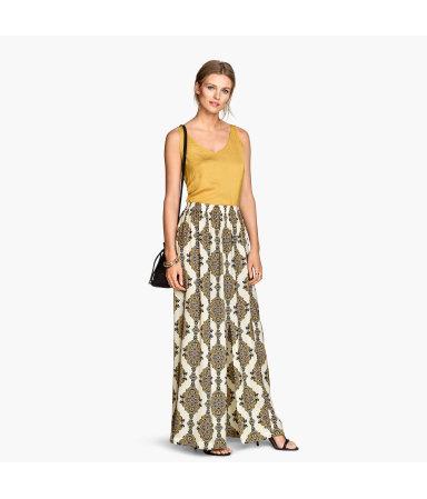 Длинная атласная юбка (Натур.белый)