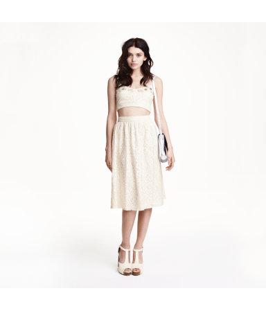 Кружевная юбка (Белый/Горошек)