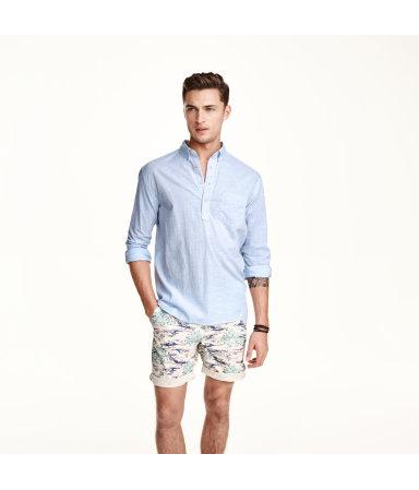 Рубашка из хлопка (Светло-голубой)