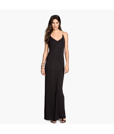 Трикотажное платье (Черный)