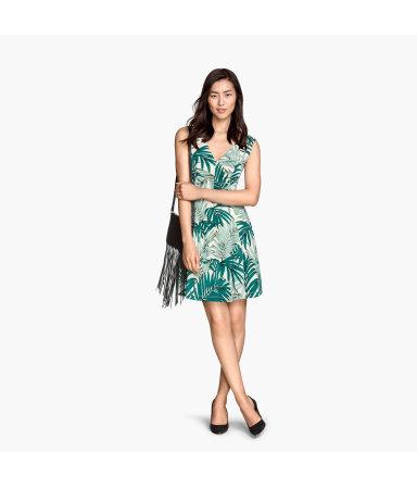 Трикотажное платье (Белый/Узоры)