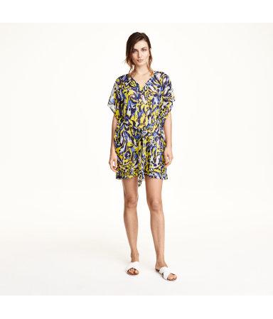 Пляжное платье (Желтый/Узоры)