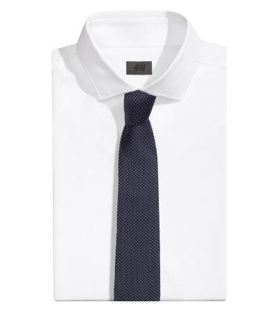 Шелковый галстук (Темно-синий)