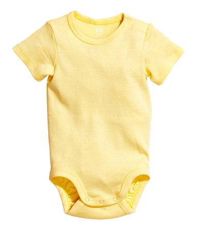 Боди с коротким рукавом (Желтый)