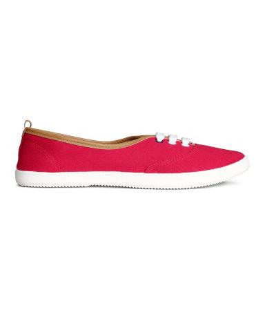 Парусиновые туфли (Красный)