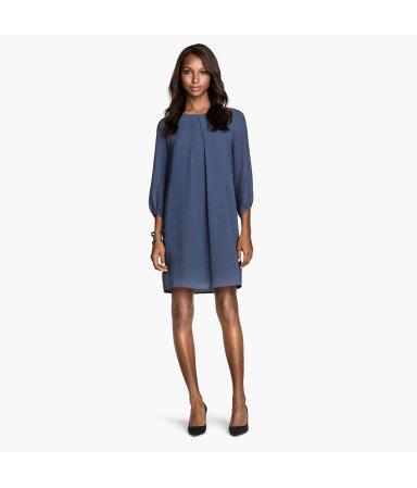 Короткое платье (Темно-синий)