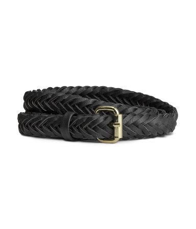 Плетеный ремень (Черный)