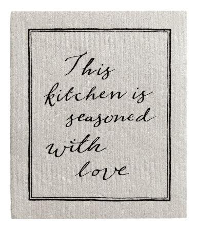 Кухонная тряпка (Светло-серый)