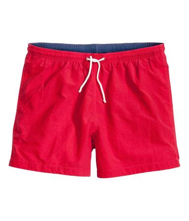 Однотонные плавки-шорты (Красный)