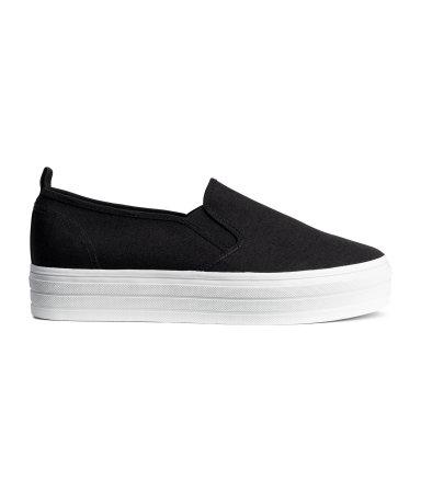 Кроссовки на платформе (Черный)