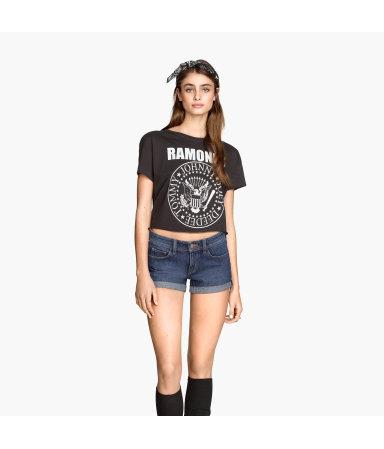 Короткая футболка (Темно-серый/Рамоунз)