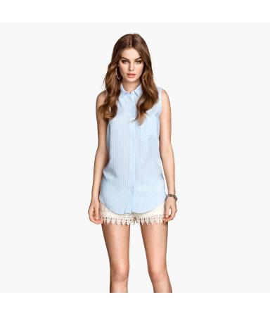 Блузка без рукавов (Синяя полоска)