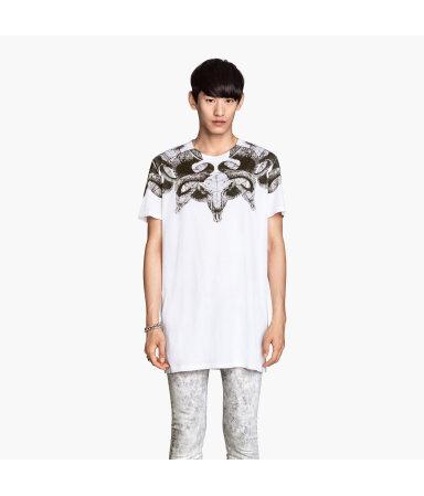 Длинная футболка (Белый)