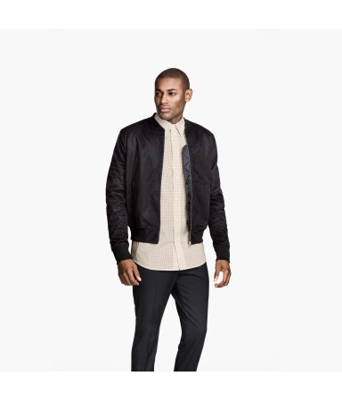 Куртка-бомбер из мембраны (Черный)