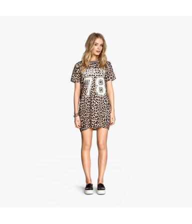 Платье-футболка (Леопард)