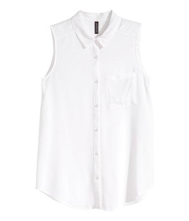 Блузка без рукавов (Белый)