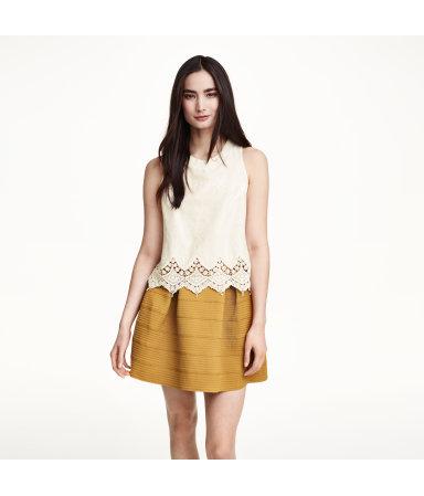 Блузка с вышивкой (Натуральный белый)