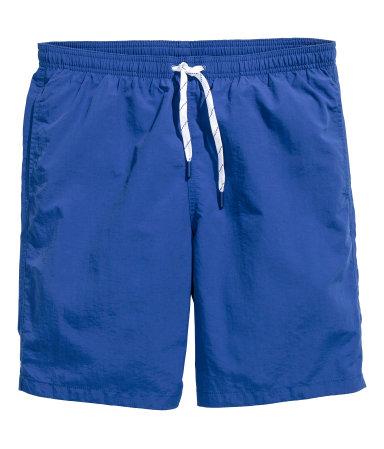 Однотонные пляжные шорты (Ярко-голубой)