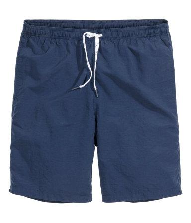 Однотонные пляжные шорты (Темно-синий)