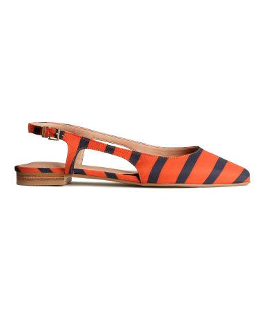Туфли шанель (Оранжевый/Полоска)