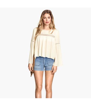 Жатая блузка (Натуральный белый)