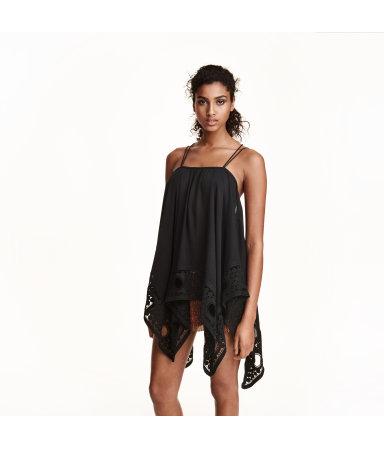 Блузка без рукавов (Черный)