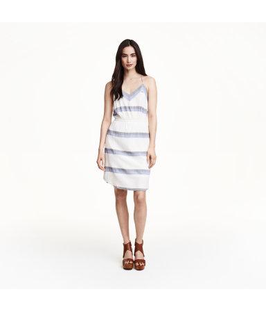Платье из жатой ткани (Натуральный белый/По)