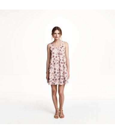 Просторное платье (Светло-бирюзовый/узоры)