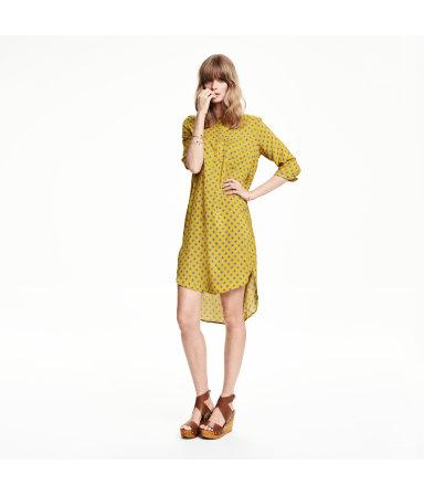 Платье-туника (Желтый/Узоры)