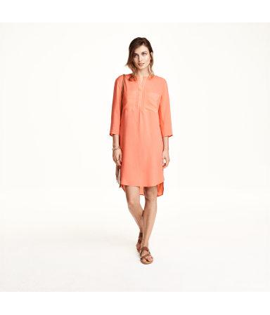 Платье-туника (Светло-коралловый)